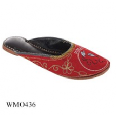 Women Embroidered Pisces Zodiac Sign Red Ballerinas 436