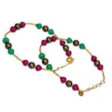 Beautiful Sexy Red Green Ethnic Brass Payal Anklet 124