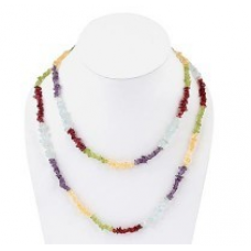 Colorful Multi Semi Precious Stones Necklace Mala 202