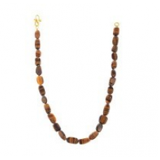 Fashionable Tiger Eye Stone Oval Beads Necklace 248