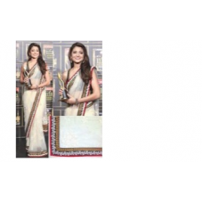 Anushka Sharma Designer White Net Bollywood Saree 533