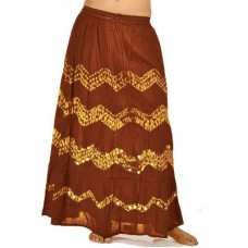 Adorable Red Yellow Bandhej Cute Cotton Skirt 288